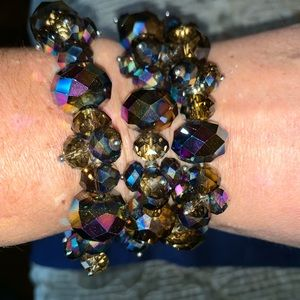 Jewelry - Purple and brown tone beaded bracelet